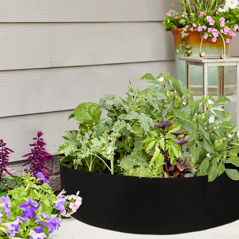 round fabric raised garden bed