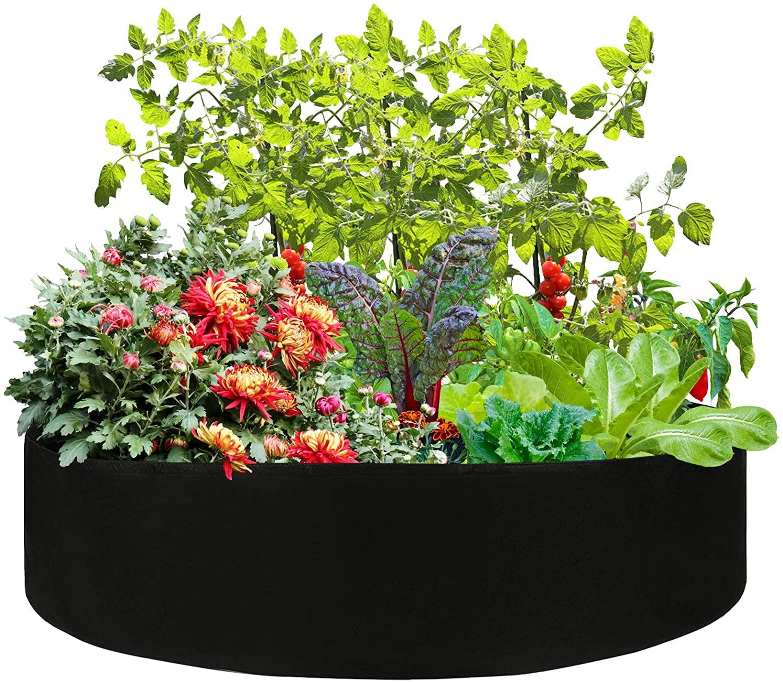 round raised planter garden bed bag